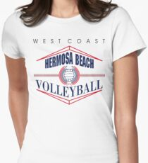 Hermosa Beach California Volleyball Womens Fitted T-Shirt
