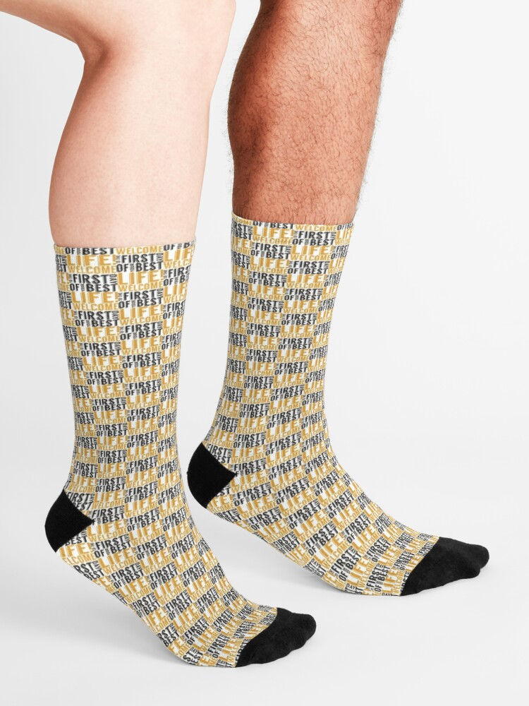Alternate view of Welcome to the First Day of Your Best Life Socks