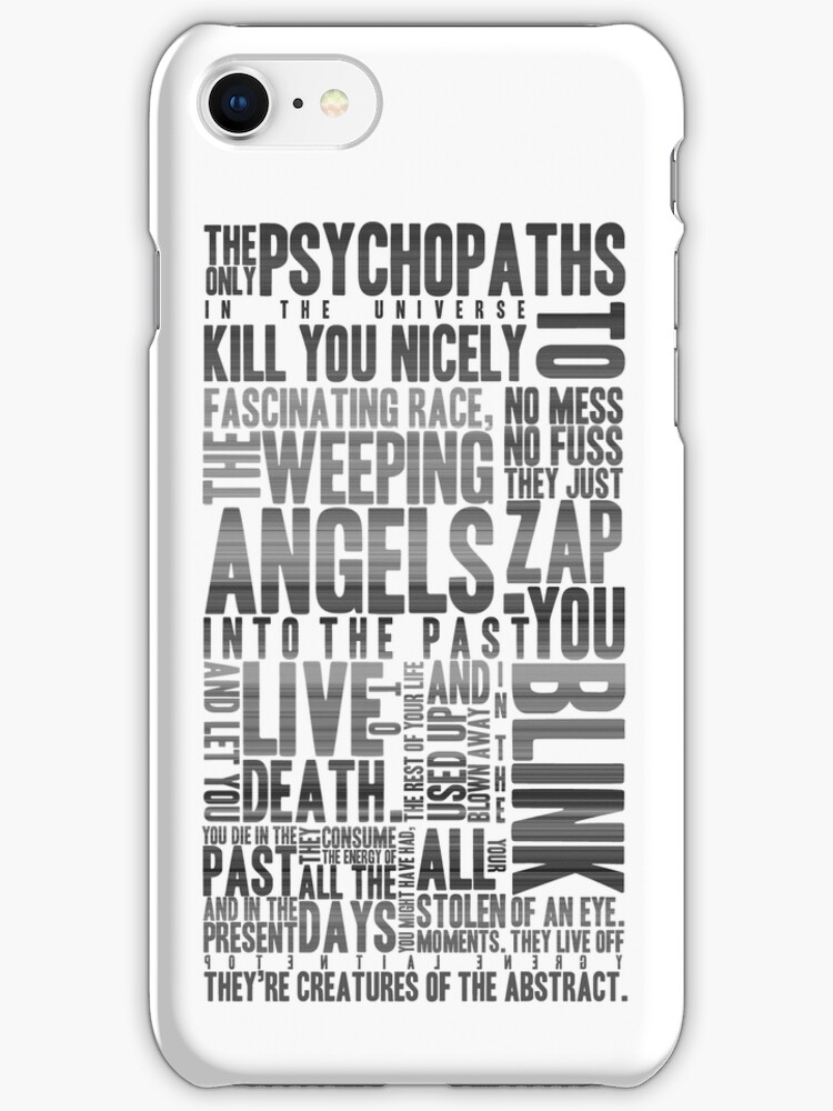 The Weeping Angels Phone Case by belleparole