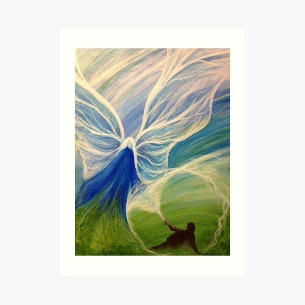 Blue Angel Rescue Art Print