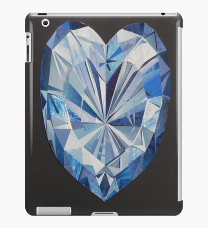 Blue diamond iPad Case/Skin