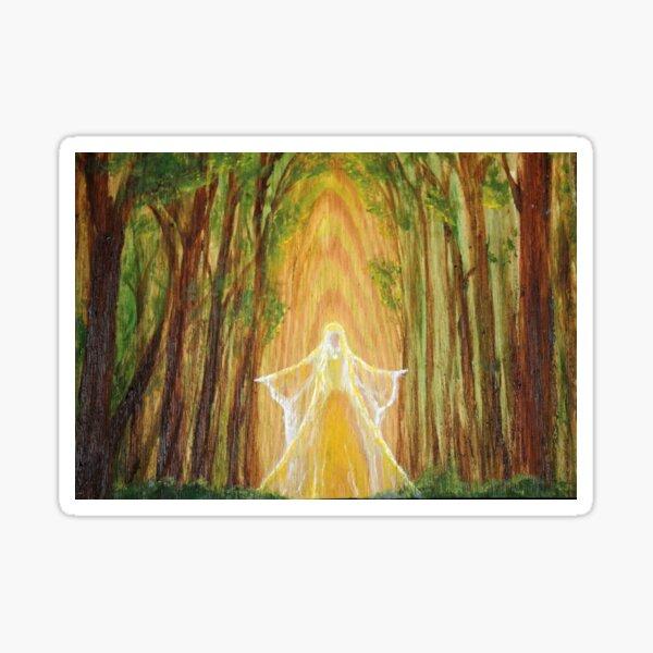 Forest Angel Sticker