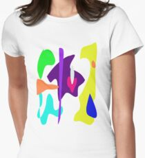 Cheerful Boy Women's Fitted T-Shirt