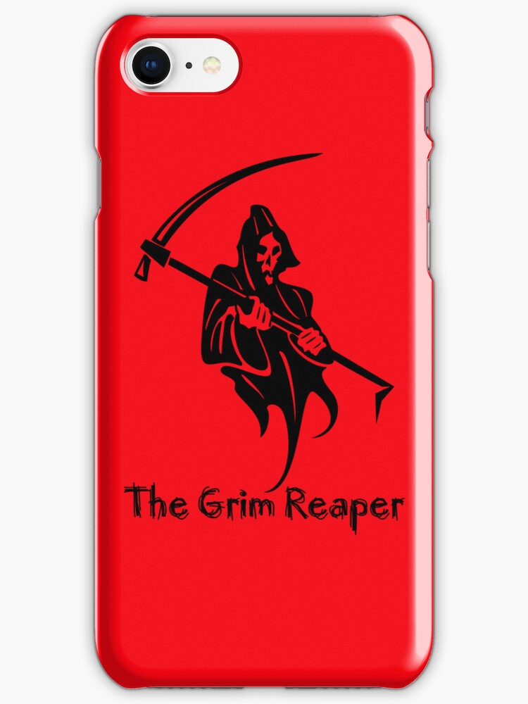 The Grim Reaper iPhone Case by Catherine Hamilton-Veal  ©