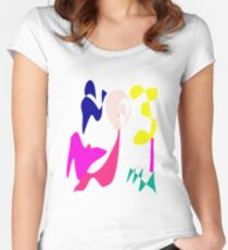 Cheerful Girl Women's Fitted Scoop T-Shirt