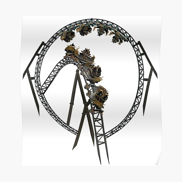 Time Traveller Rollercoaster Design Poster
