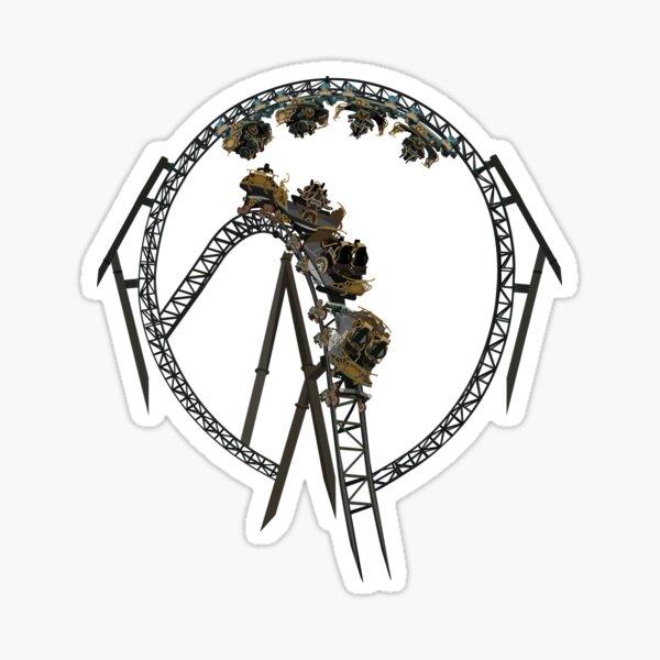 Time Traveller Rollercoaster Design Sticker