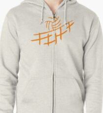 Volleyball Zipped Hoodie
