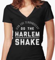 Harlem Shake Women's Fitted V-Neck T-Shirt