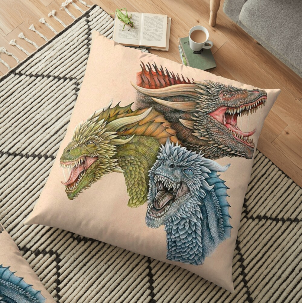 Rhaegal Floor Pillow