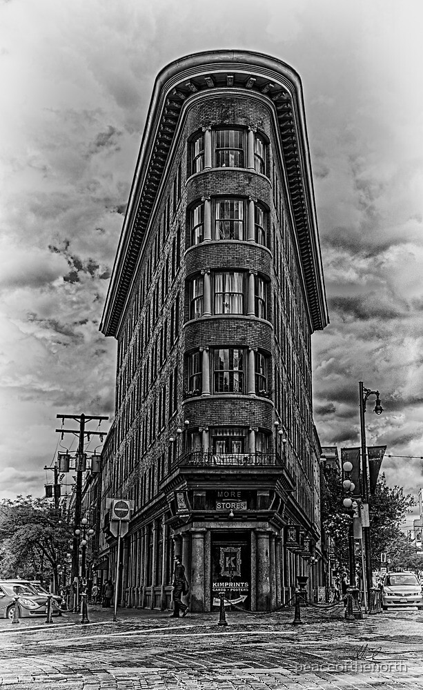 Gastown...HDR Black & White by peaceofthenorth