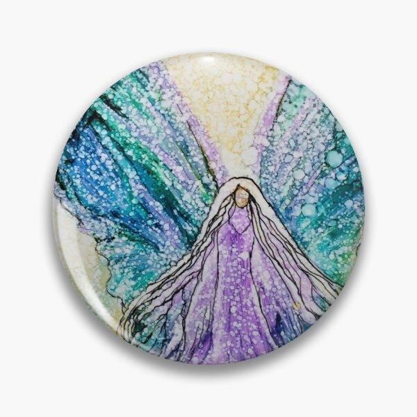 Angel in a Purple Dress Pin