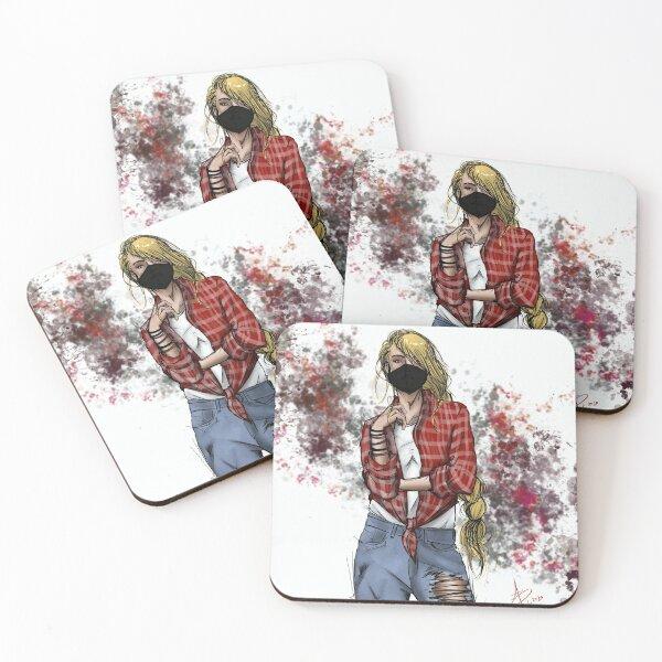 Savannah Character Graphic Coasters (Set of 4)