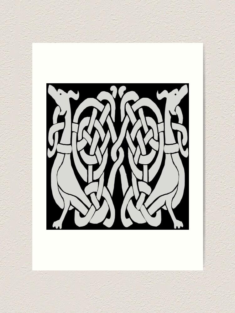Viking Knotwork Viking Knot Work Norman Dogs Art Print By Kellymavis Redbubble