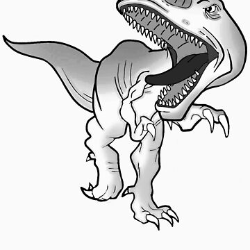 t-rex t-shirt black and white version by parko