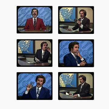 Anchorman - Ron Bergundy - TV Ron by grayagi