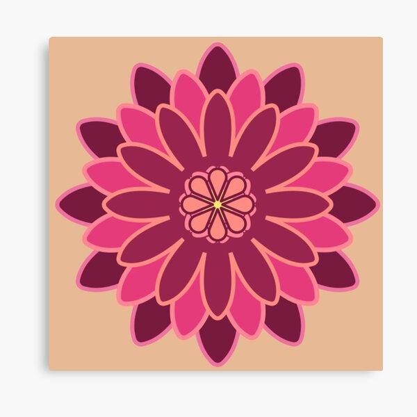 Geometrical Flower Canvas Print
