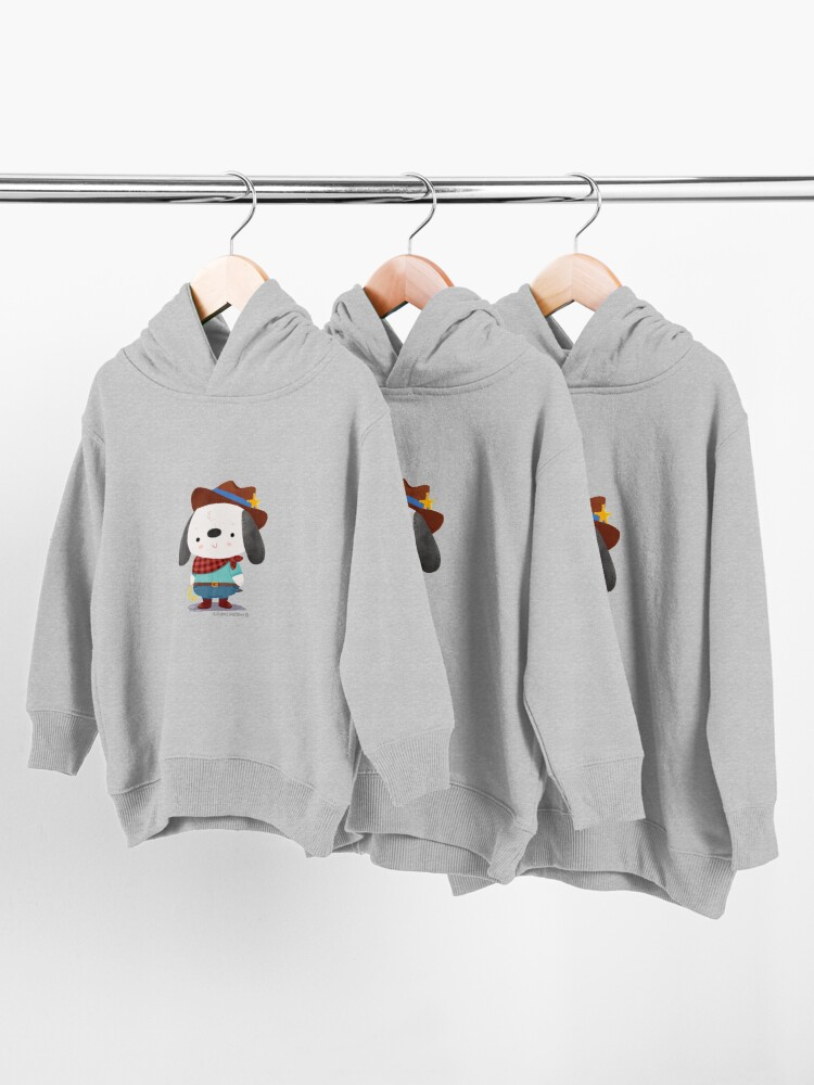 Alternate view of Ted The Dog Sheriff Toddler Pullover Hoodie