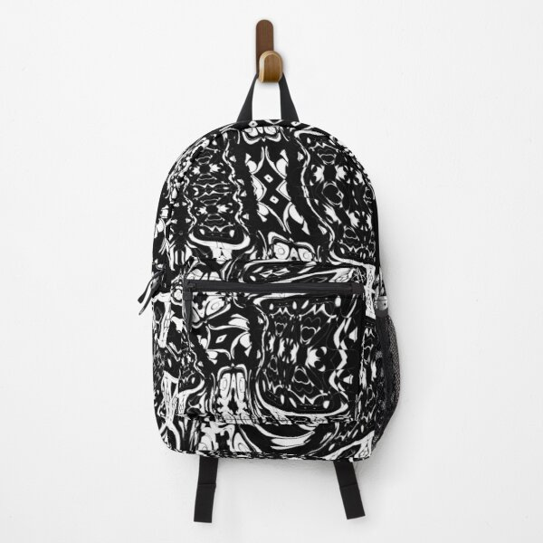 Abstract Black and White Intricate Pattern Backpack