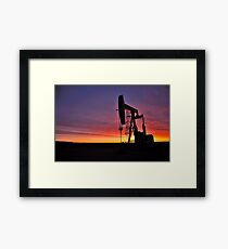 Sunrise near Sidney Montana Framed Print