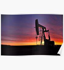 Sunrise near Sidney Montana Poster