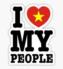 I Heart (Love) My Viet People Sticker