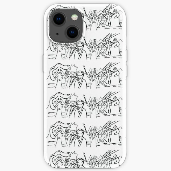 Sokka's Finale Drawing of the Avatar Gang iPhone Soft Case