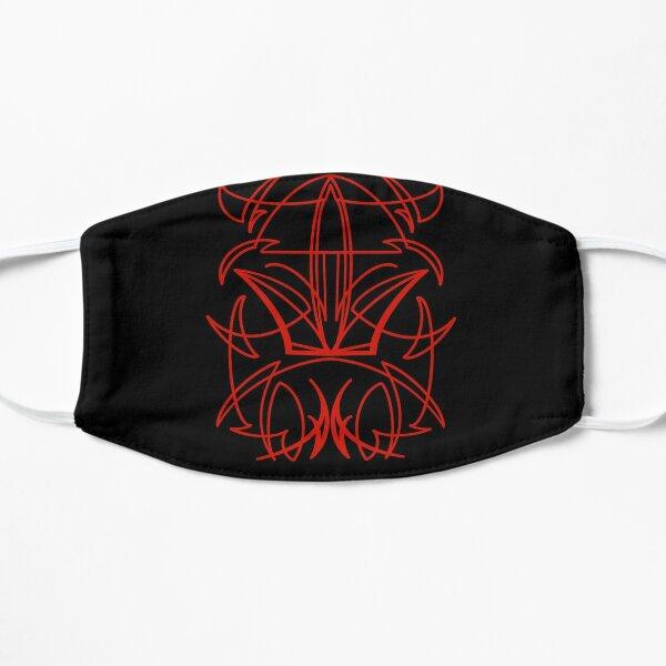 Red Pinstripe Flat Mask