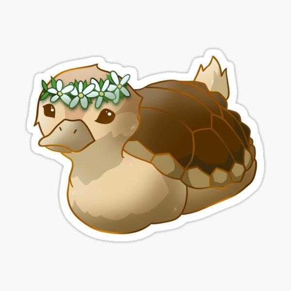 avatar flower crown turtle duck Sticker