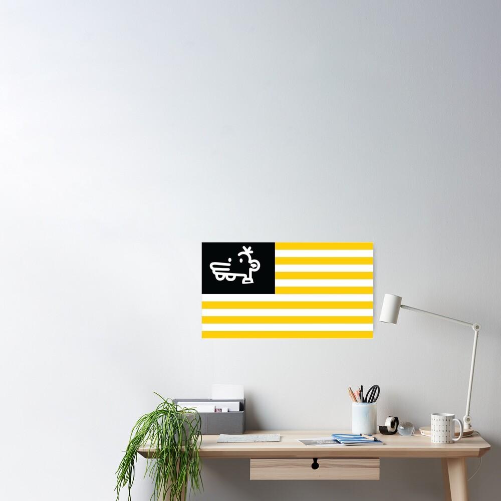 Manny Heffley Flag Gen Z American Tiktok  Poster