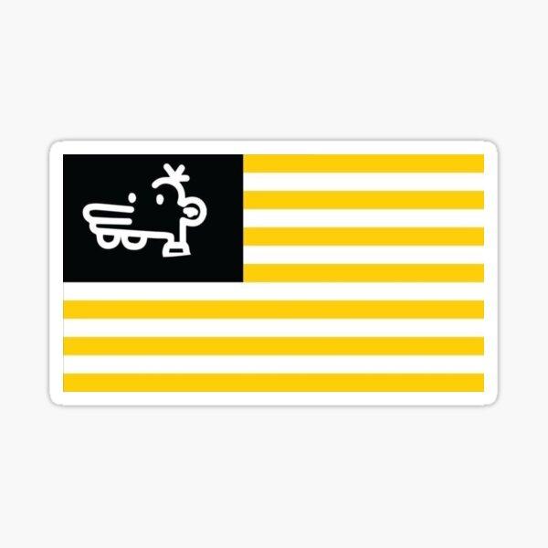 Manny Heffley Flag Gen Z American Tiktok  Sticker