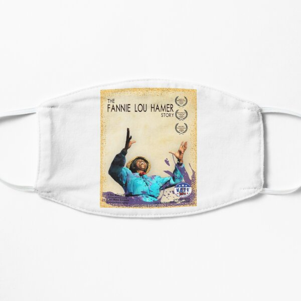 Fannie Lou Hamer Story Pastel and Purple Poster Mask
