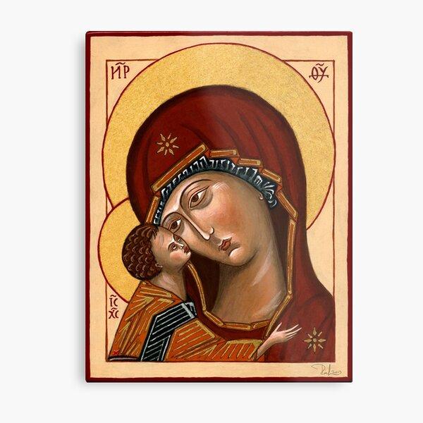 Madre di Dio della Tenerezza - Mother of God of Tenderness Metal Print