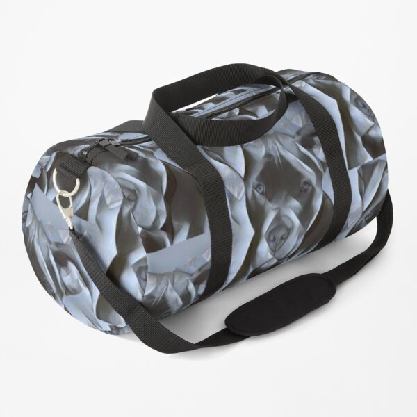 Pit Bull dog  - beautiful blue nose pit bull dog - painting that shows off the soft lovable nature of this gentle breed Duffle Bag