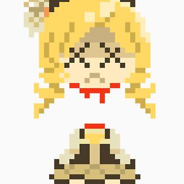 Headless Mami Pixels Sticker by Astrotoast