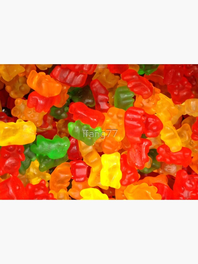 colorful sweet tooth foodie candy gummy bear  by lfang77