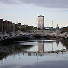 Ha' Penny Bridge, Dublin, Ireland by Erin K Casey