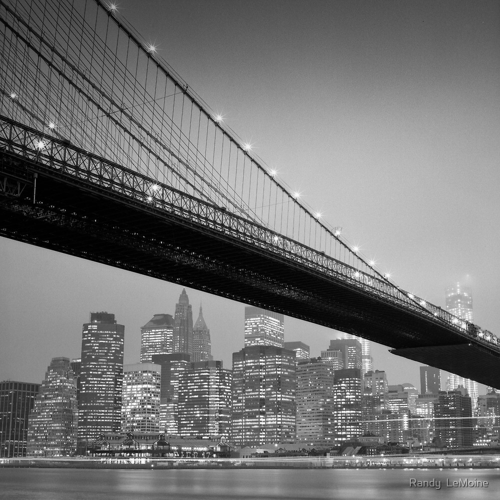 Brooklyn Bridge, Study 6 by Randy  LeMoine