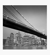 Brooklyn Bridge, Study 6 Photographic Print
