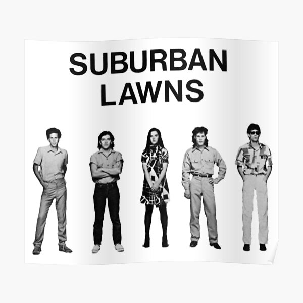 SUBURBAN LAWNS Poster