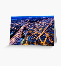 Twilight over Southeast Seattle  Greeting Card