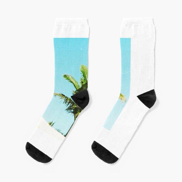 Grunge Palm Beach Socks