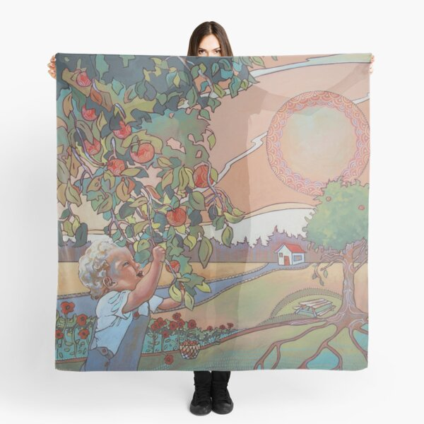 Colorful vintage style design Scarf