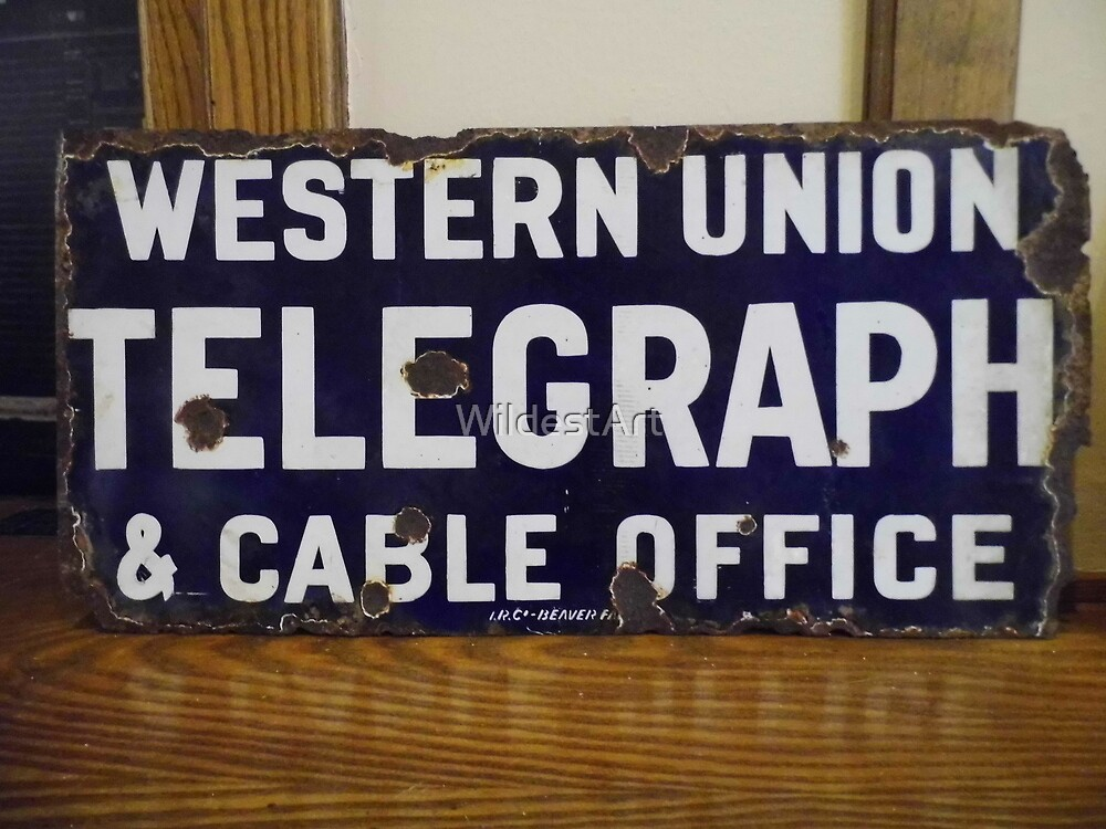 Telegraph Sign by WildestArt
