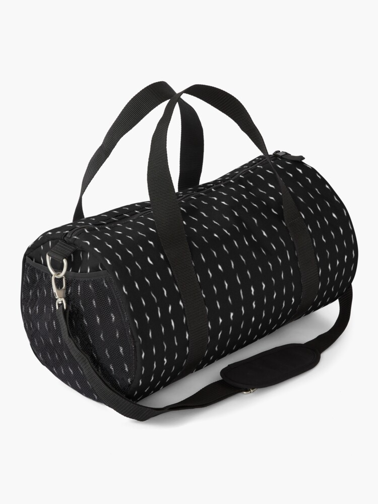 Alternate view of Minimalist Black and White Abstract Texture Duffle Bag