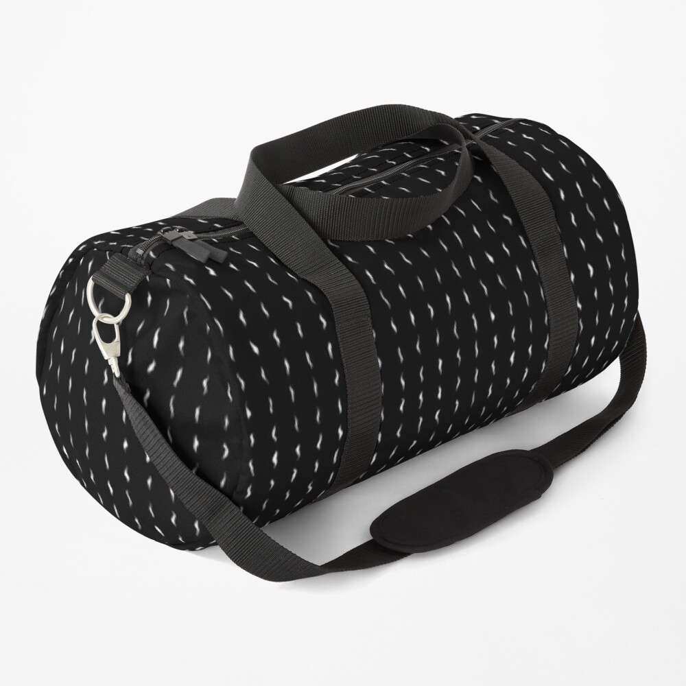 Minimalist Black and White Abstract Texture Duffle Bag
