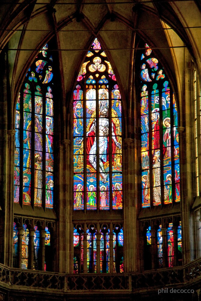 Triple Stained Glass by phil decocco