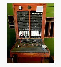 The telephone switchboard Photographic Print