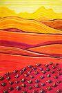 Pastel Art - Sunset Blast by Georgie Sharp