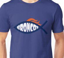 Broncos Jesus Fish Unisex T-Shirt